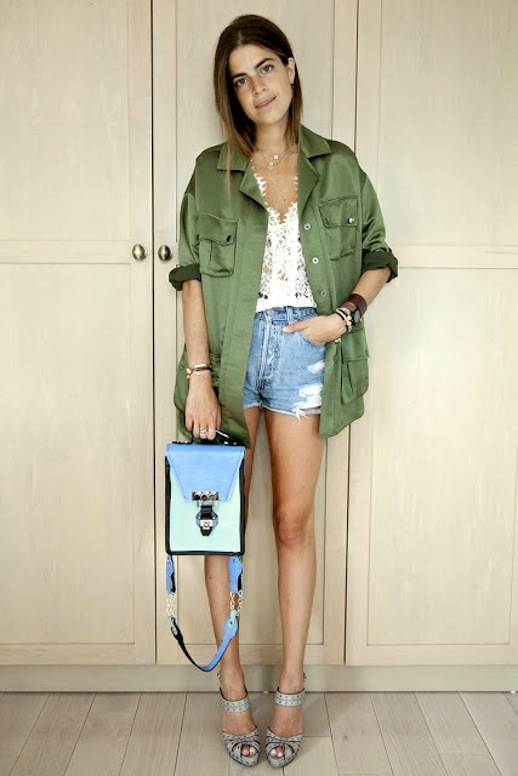 11-Le-Fashion-Blog-15-Ways-To-Wear-A-Green-Army-Jacket-Lace-Shirt-Cut-Off-Jean-Shorts-Via-Leandra-Medine-Man-Repeller