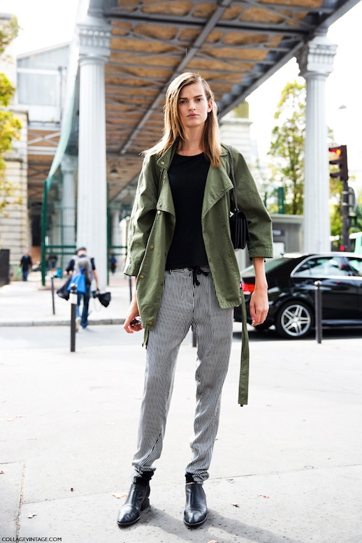 9-Le-Fashion-Blog-15-Ways-To-Wear-A-Green-Army-Jacket-Model-Street-Style-Striped-Pants-Via-Collage-Vintage